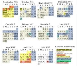 Calendario 2015-2016